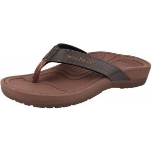 Everhealth Damen Zehentrenner Orthopädische Sandalen für Fußgewölbe und Fersensporn Stylische Hausschuhe Sandaletten mit Weichem Fußbett Schuhe & Handtaschen