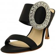 JOEupin Elegante Damen-Sandalen mit Zehenspitze und niedrigem Absatz Slip-on Mules Slide Sandals Kitten Shoes Schuhe & Handtaschen