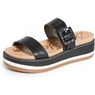 Sam Edelman Damen Agustine Slide Sandale Schwarz 6 5 M Schuhe & Handtaschen