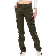 Cargo Hose für Frauen Damen Mode Mittlere Taille Schmale Füße Multi Taschen Lange Hosen Damen Outdoor Trekking Camping Bergsteigen Hosen Bekleidung