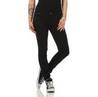Fashion4Young 10489 Damen Skinny Slimline Hose Damenhose Stretch Übergrössen 36-50 Bekleidung