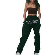 Kenebo Lässige Sporthose Stop Looking at My Dick Sweatpants Elastische lose Hose Bekleidung