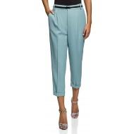 oodji Ultra Damen Hose mit Bügelfalten Bekleidung