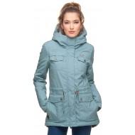 Ragwear Laika Minidots Damen Winterjacke Dusty Blue Größe XS Bekleidung