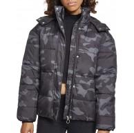 Urban Classics Damen Daunenjacke Camouflage Winterjacke Ladies Boyfriend Camo Puffer Jacket Bekleidung
