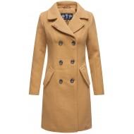 Marikoo Damen Mantel Trenchcoat Wintermantel Übergangs Jacke Parka Lang B820 Bekleidung
