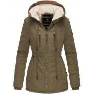 Marikoo Damen Winter Jacke Stepp Parka Mantel Winterjacke Teddyfell warm gefüttert XS - XXL 6 Farben Maiglöckchen Bekleidung